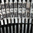 Stock Photo: Typewriter detail