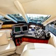 Boat interior - Sunseeker Manhattan 60 — Stock Photo