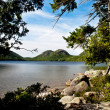 Bubbles view with Jordan Pond — Stock Photo