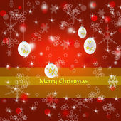 Merry Christmas decorative background — Stock Photo
