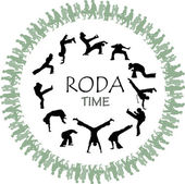 Roda capoeira in the street — Stock Vector