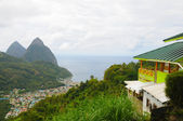 Piton Mountains — Stock Photo