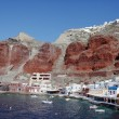 Oia view from the bottom of the mountain — Stock Photo