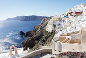 Santorini island view — Stock Photo