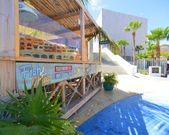 Sunny day cafe in Cabo San Lucas — Stock Photo