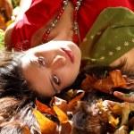 Girl in autumn park — Stock Photo #6876079