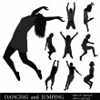 DANCING and JUMPING. - Stock Vector