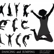 The Dancing Young - Stock Vector