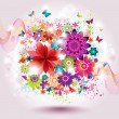 Beautiful Flower Background. - Stock Vector