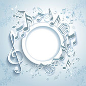 Abstract Music Frame. — Stock Vector
