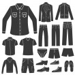 Stock Vector: Set of Men's Clothing.