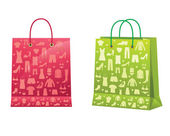 Shopping bags. — Vector de stock