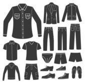 Set of Men's Clothing. — Stok Vektör