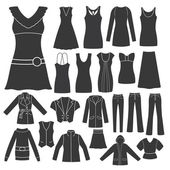 Set of Women's Clothing. — Vector de stock