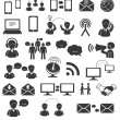 Royalty-Free Stock Vector Image: Set of communication icons.