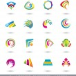 Set of Abstract Design Elements or Icons. — Stock Vector