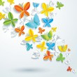 Abstract background with butterflies.  — Stock Vector