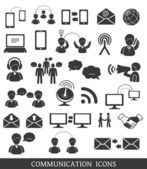 Set of communication icons. — Stock Vector