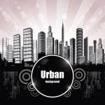Фон абстрактный города — Cтоковый вектор