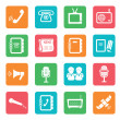 Set of communication icons. Color buttons.  — Imagen vectorial