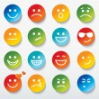 Set of faces with various emotion expressions. — Stock Vector #28079549
