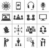 Conjunto de iconos de comunicación. — Vector de stock