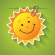 Greeting card with sun. — Stock Vector