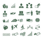 Finance , banking & business icons set. — Stock Vector