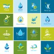 Set of vector Water icons 1. — Stock Vector