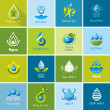 Set of vector Water icons 3. — Stock Vector