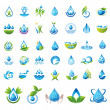 Stock Vector: Set of vector Water icons.