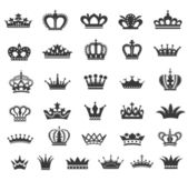 Set of vector crown icons. — Stock Vector