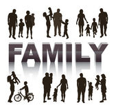 Family. Conceptual background. — Stock Vector