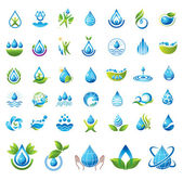 Set of vector Water icons. — Stock Vector