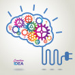 Creative Brain Idea concept background. — 图库矢量图片