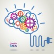 Creative Brain Idea concept background. — Cтоковый вектор