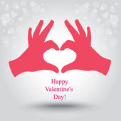 Valentine's day. Greeting card. — Stock Vector