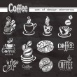 Coffee. Design elements on the chalkboard. — Stock Vector #39765649
