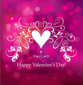 The Valentine's Day. Greeting card. — Vector de stock