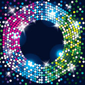 Abstract glowing background. Disco, celebration, magic decoration. — Stockvector