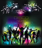 Young people on the party. Celebration background. — Stock Vector