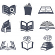 Stock Vector: Set of vector book icons.