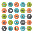 Set of travel icons. Modern flat design elements. — Stock Vector