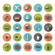Set of modern flat travel icons. — Stock Vector