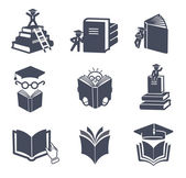 Set of vector book icons. — Stock Vector
