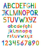 Colorful vector font and numbers. — Stock Vector