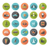 Set of modern flat icons. Travel. — Stock Vector
