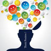 Positive thinking. — Stock Vector
