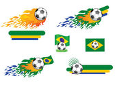 Soccer. Set of design elements. — Stock Vector