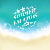 Summer marine background. — Stock Vector